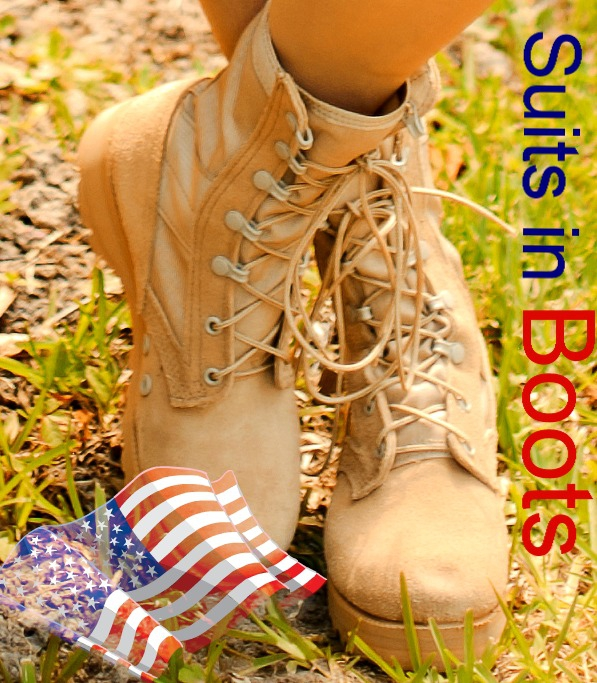 Louise Thaxton VA Military Suits in Boots