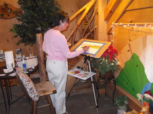 Watercolors by Sheryl Bessette demonstration