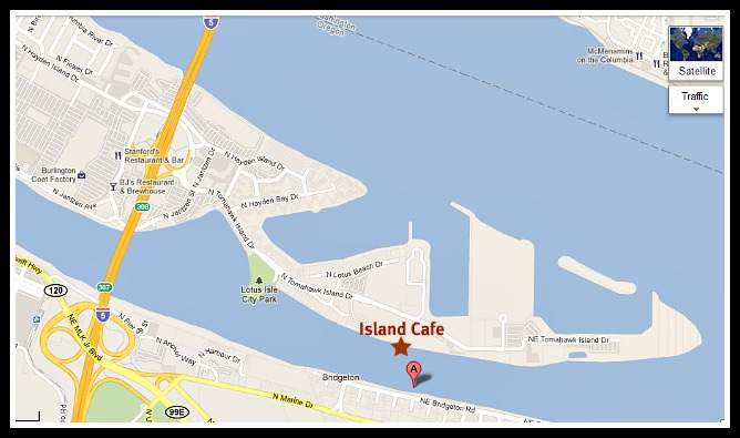 Map of the Island Cafe