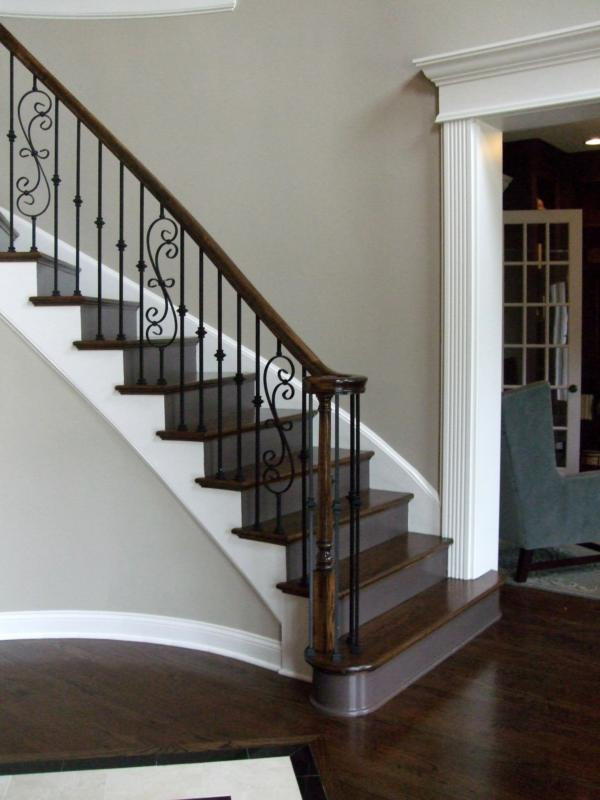 New home staircases oak craftsman and more styles for Curved staircase