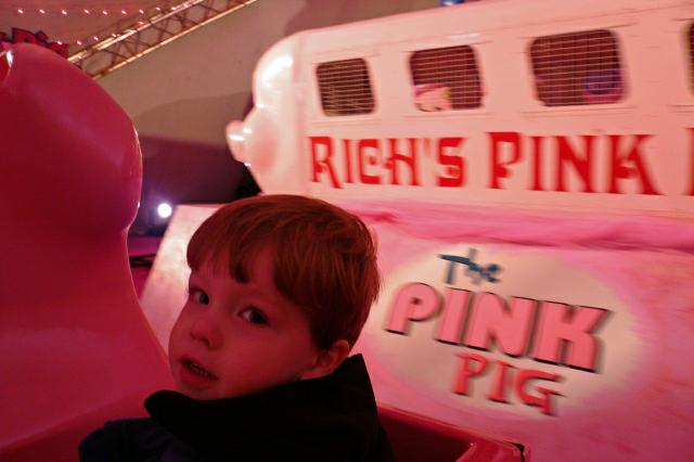 Original Pink Pig in the background