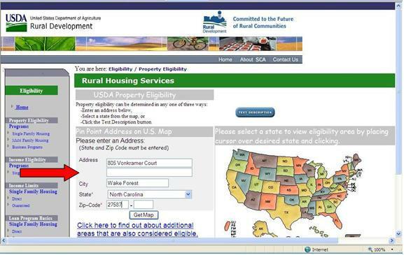 Usda Property Eligibility Map Wake Forest NC   USDA Home Loan Property Eligibility   Great Map