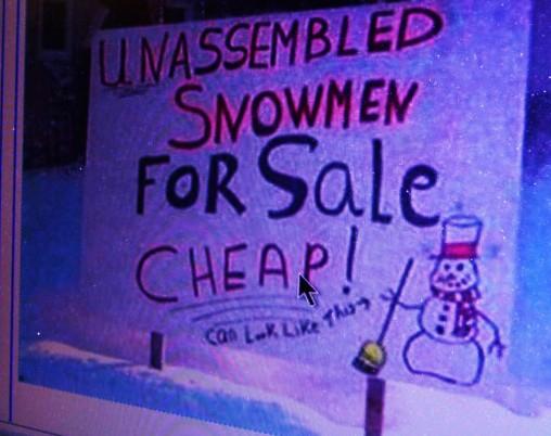 snowmen for sale...unassembled