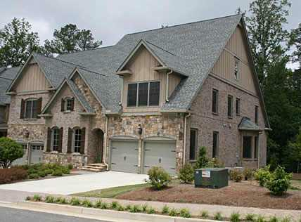 Wisteria parkside roswell ga brick townhomes by linda for Custom brick homes