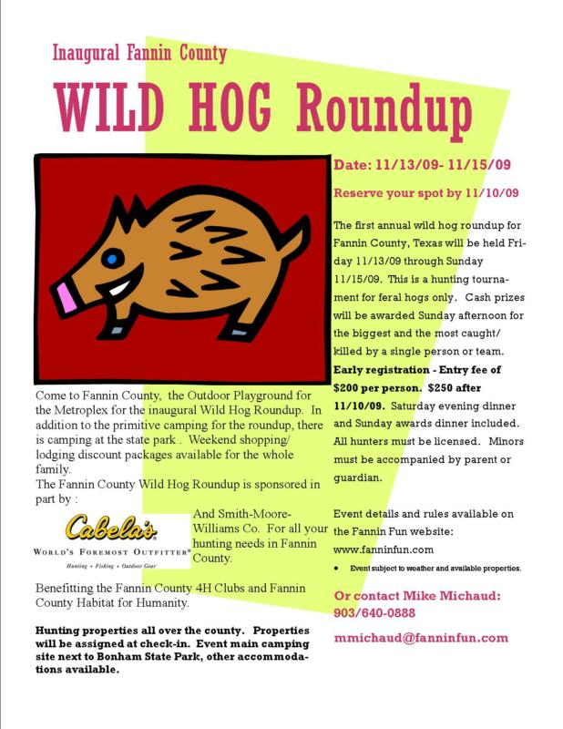 Fannin County Wild Hog Roundup: Mike Michaud, www.fanninfun.com