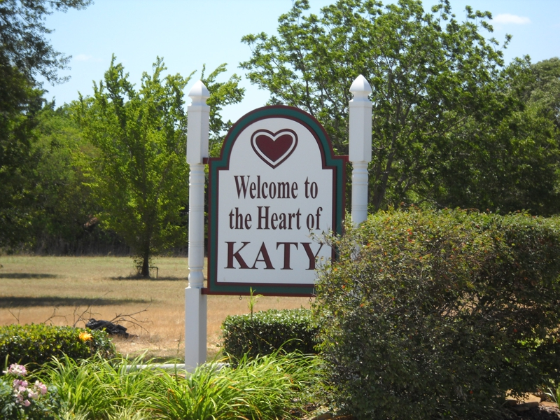 Welcome to Katy TX sign