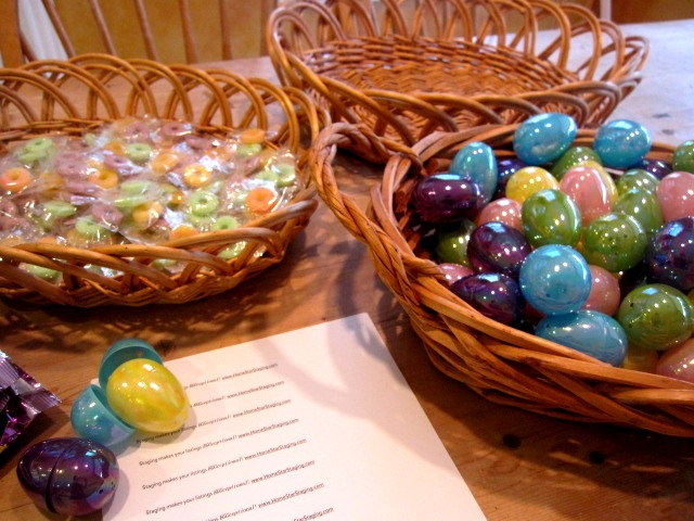 Easter Eggs in a basket marketing idea