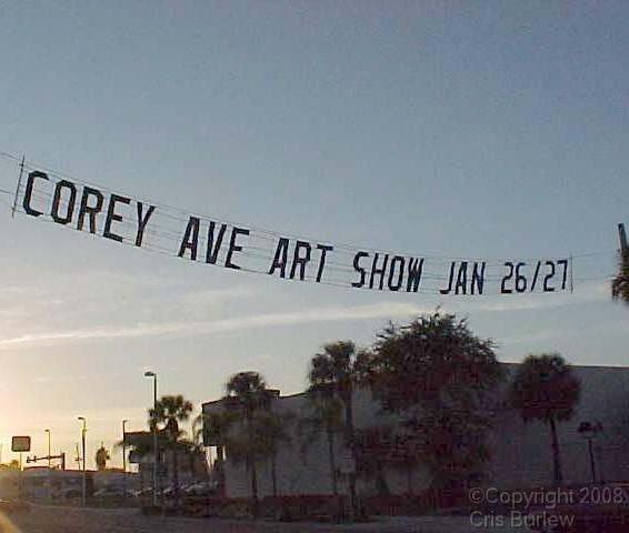 Corey Ave Art Show Sign