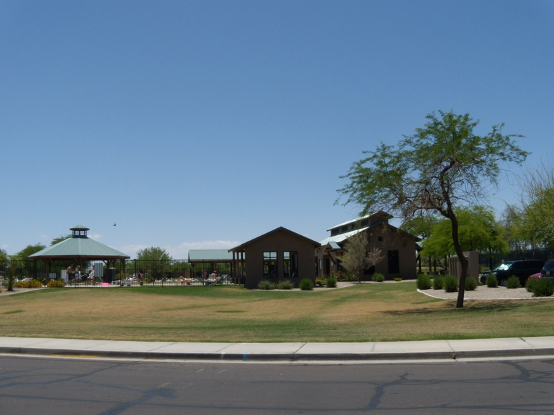One of three community pools in Johnson Ranch