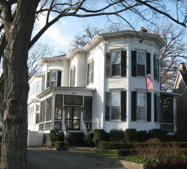 Winnetka historic homes italianate style for Italianate homes for sale