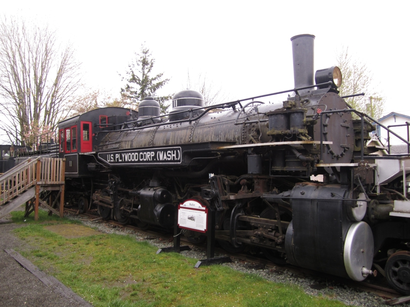 Engine at Northwest Railway Museum