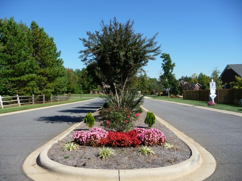 Beautiful Landscaping at Harbor Landing in Lake Norman