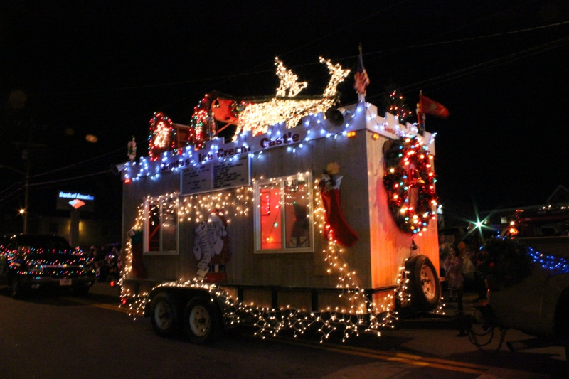 Floats, decorated vehicles at the Clarksville Chritmas Parade