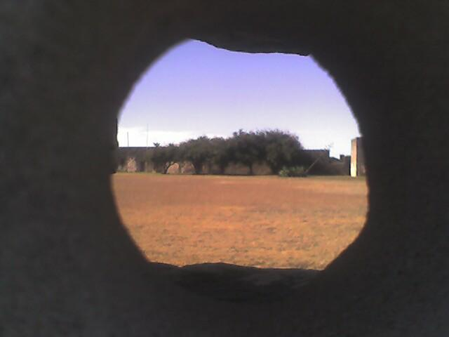 view in to square thru hole