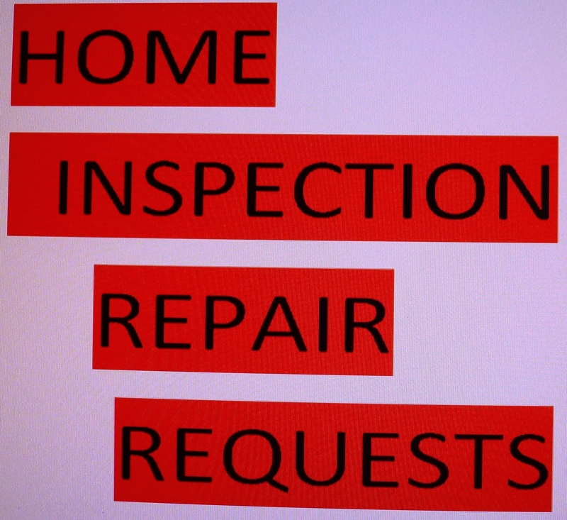 Home Inspection Repair Request
