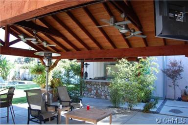 covered patio with built in BBQ pool span and lani Mayflower Village Monrovia CA