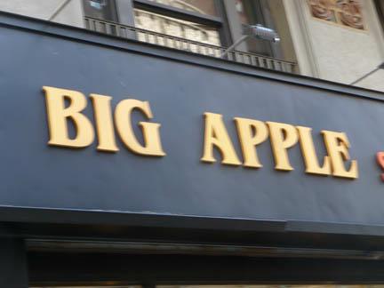 Big Apple sign NYC