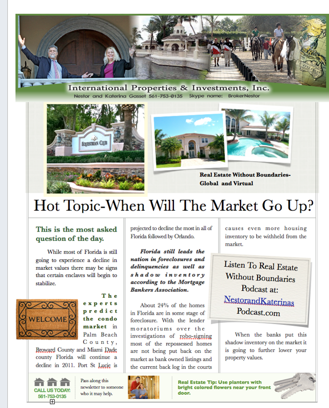Wellington Florida Real Estate Podcast and Newsletter- Spring Edition