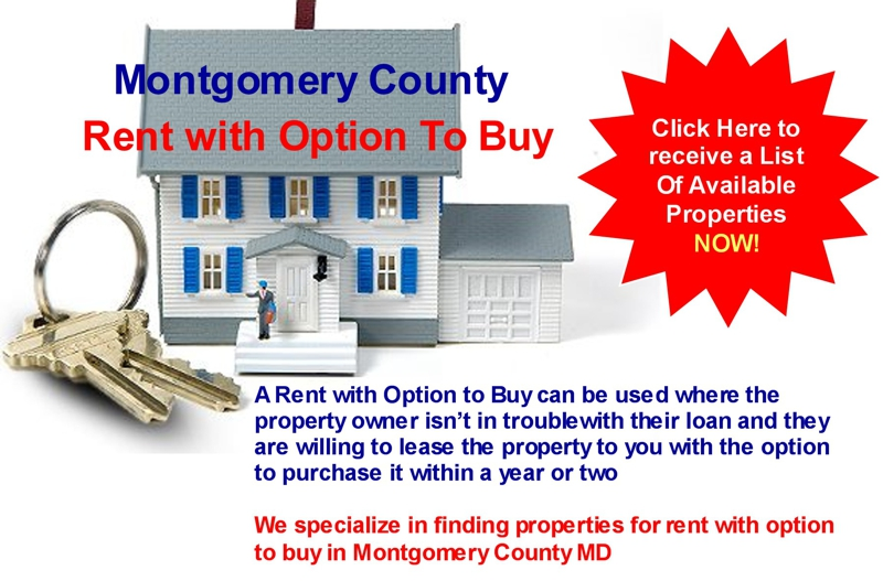 rent with option to buy in maryland all homes for rent