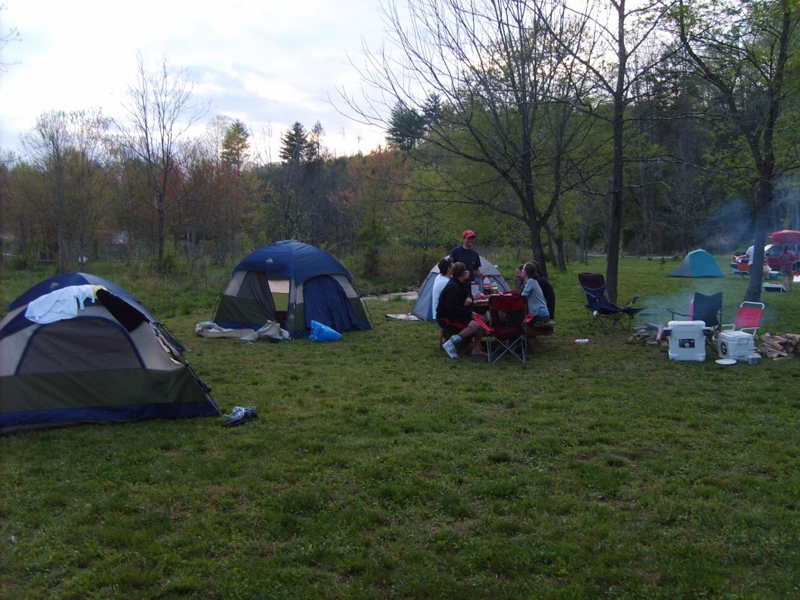 Camping at Persimmon Creek in Murphy NC
