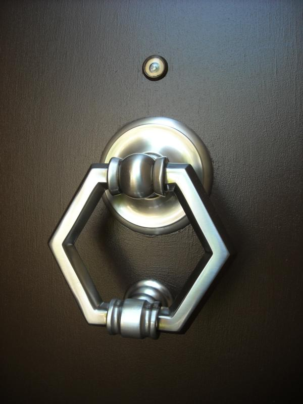 door knocker after