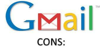 Gmail Cons