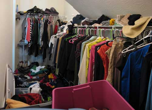 Closet Before - View 2