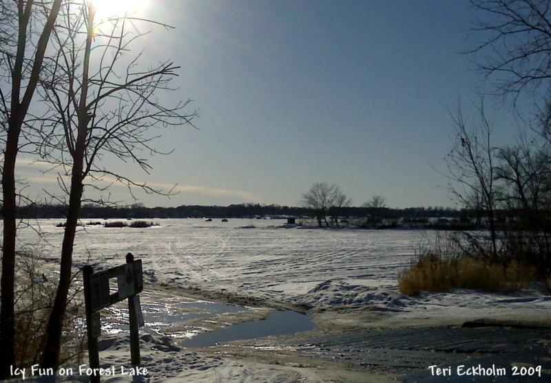 Forest Lake Ice Fishing by Teri Eckholm Realtor