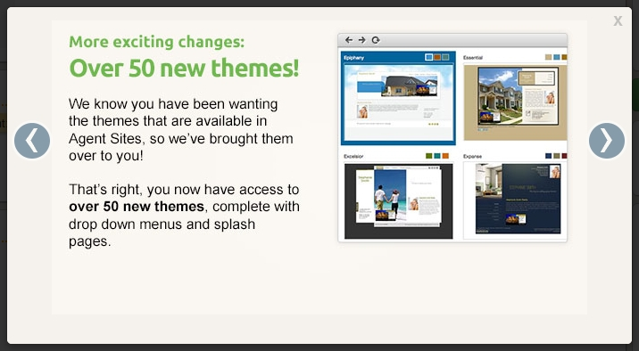 50 New Themes in Point2 Agent Websites
