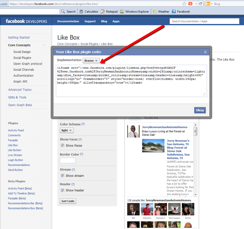 how to add html iframe to facebook
