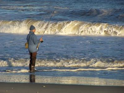 Great fishing on the jersey shore in autumn for Barnegat bay fishing