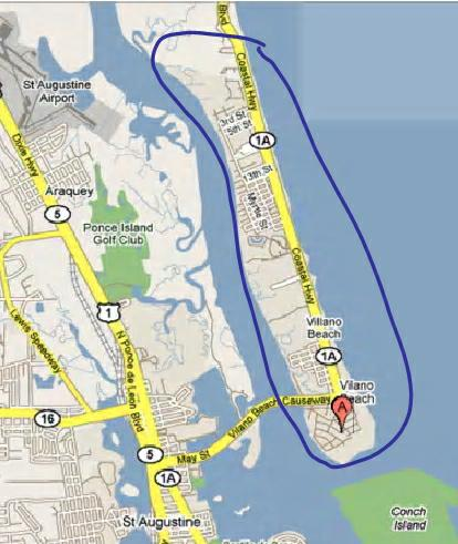 Vilano Beach---Closest Beach to St. Augustine, Florida on beaches of st augustine area map, st augustine on map, hotel st. augustine fl map, st. johns county florida map, florida history map, city of st. augustine fl map, lehigh florida map, old st. augustine fl map, sanborn st augustine florida map, red train st augustine map,