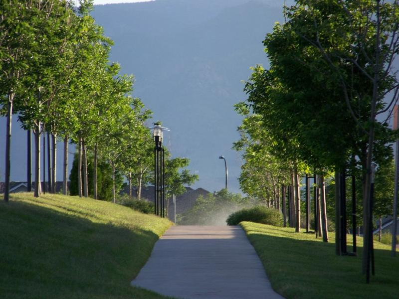 Walking path near Highlands Ranch town center