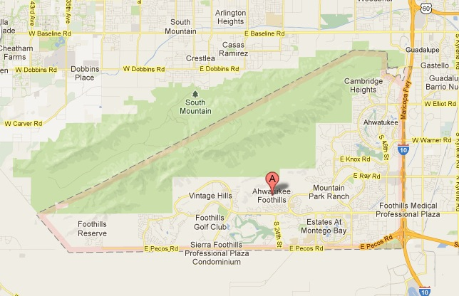 Ahwatukee Zip Code Map.Ahwatukee Az A Mystery To Some Is The Worlds Largest Cul De Sac