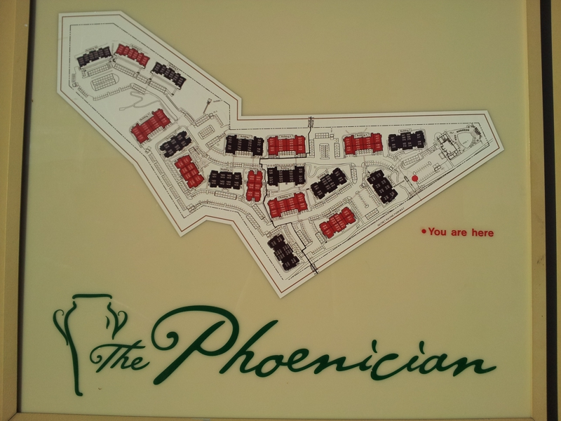 Directory Map of The Phoenician Condos in Roseville, CA