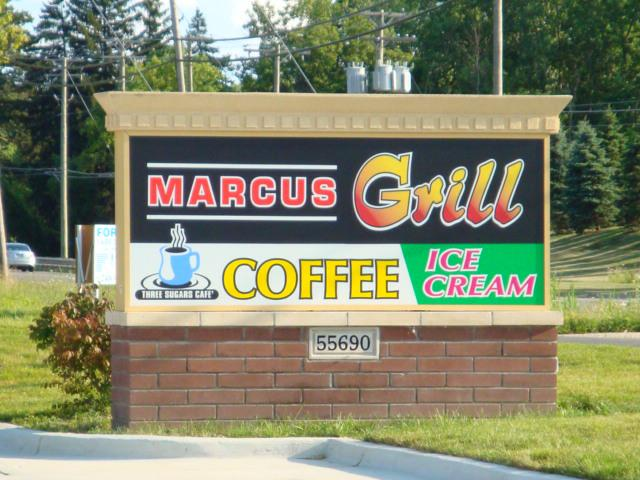 Marcus Grill Sign