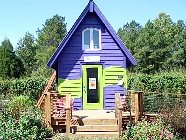 Off grid Abundance Foundation office in Pittsboro NC