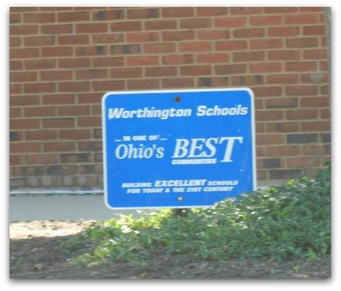 Worthington Schools sign