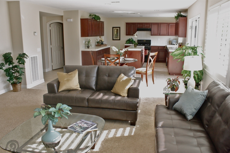 Winchester Home Staging Family Room & Kitchen