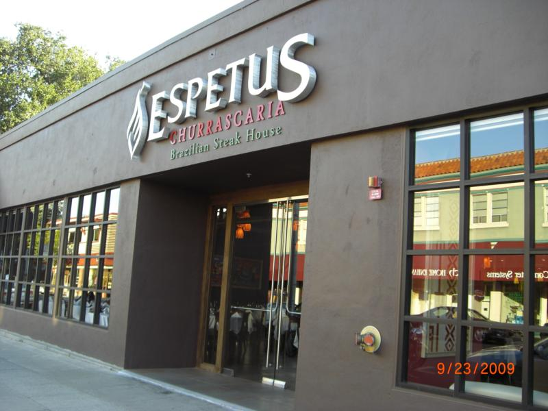 Espetus Churrascaria Brazilian Steak House San Mateo California County Ca
