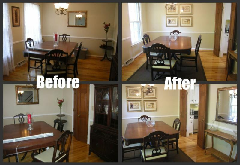 home staging training see what my csp staging class did yesterday before after photos. Black Bedroom Furniture Sets. Home Design Ideas