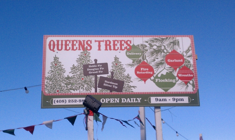 Queens Trees christmas tree lot Saratoga CA