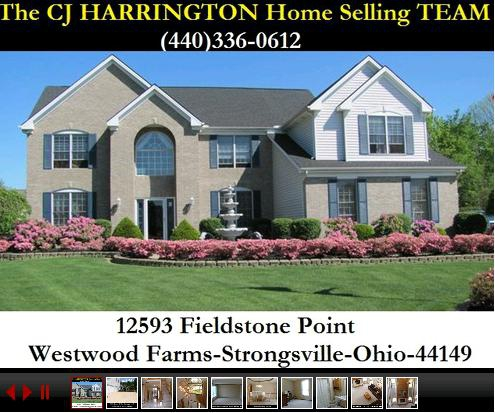 Cleveland Real Estate-12593 Fieldstone Pt(Strongsville, Ohio 44149)...Call (440)336-0612 or Visit WWW.CJHARRINGTON.COM