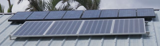 solar array for an off grid power system in Haiku Maui HI