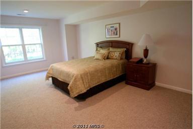 Master bedroom in lower level