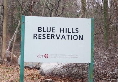 Blue Hills Sign