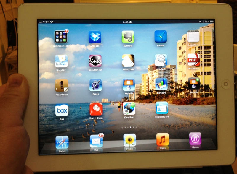 Naples Florida Realtor Greg Gorman runs his business from the iPad