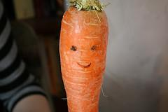 Carrot with a smile