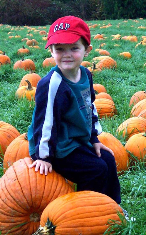 Ben at a Pumpkin Patch