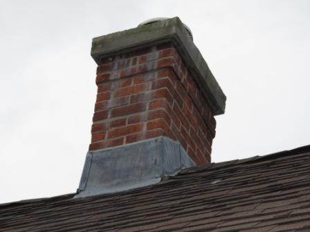 Rebuilt chimney top